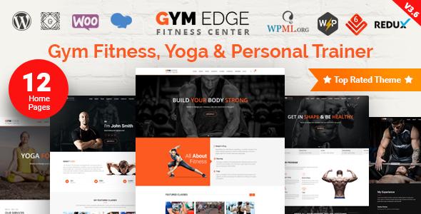 Gym Edge v3.6.1 - Gym Fitness WordPress Theme