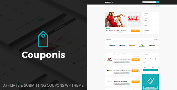 Couponis v3.1 - Affiliate & Submitting Coupons WordPress Theme