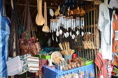A shop at the Memorial Bridge selling traditional cookware