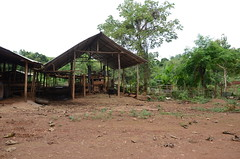 More functional aspects of the Karen long neck village- a cow shed and machinery of some sort