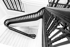 Marble Staircase B&W