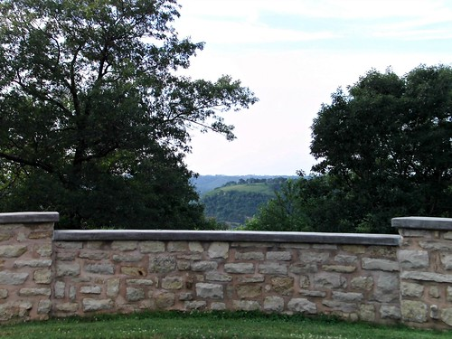 The view from Oakwood Cemetery