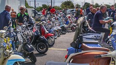 Morecambe Scooter Rally 2019 in the carpark next to the Platform.