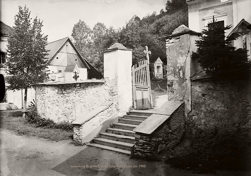 Waldbach (bei Mönichwald), Steiermark- Eingang Friedhof | um 1900