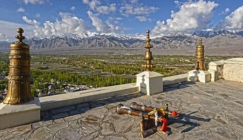 Thiksay Monastery Horns DSC_4153