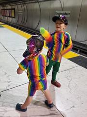 BART full of rainbows
