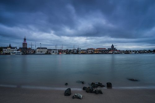 Cityscape Kampen at blue hour