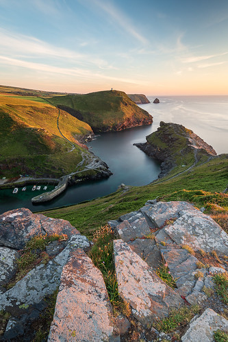 Last Light at Boscastle Harbour
