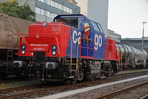H3 025-7 dans le port de Kleinhüningen (Bâle)