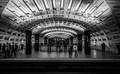 Metro Center tube station, Washington DC メトロ・センター地下鉄駅、ワシントンD.C.