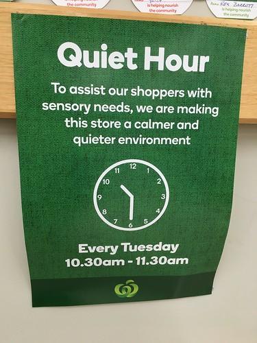 Quiet Hour at the Supermarket