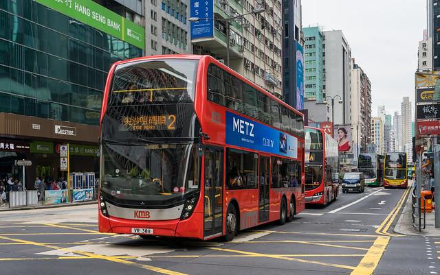 Hong Kong city bus: Alexander Dennis Enviro # VR 3811