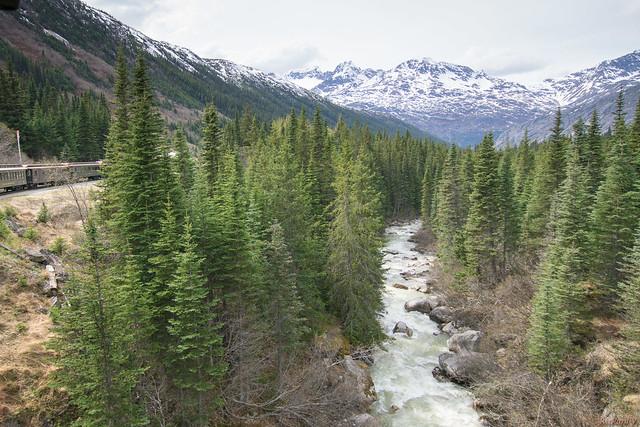 White Pass, Railroad - Skagway, Alaska, AK, USA - 0773