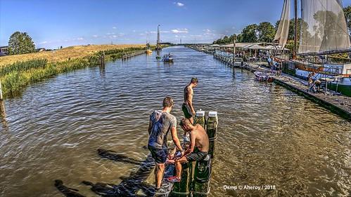 Reitdiep Mudrun,Garnwerd,Groningen  ,the Netherlands,Europe