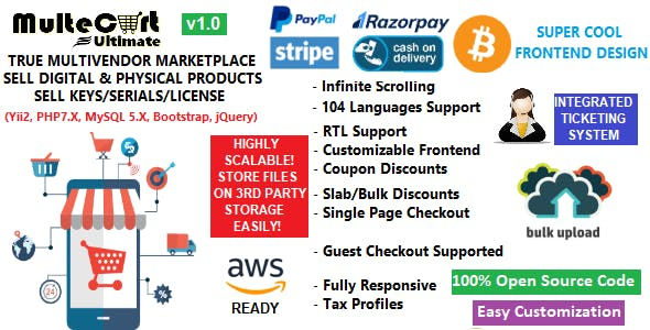 MulteCart Ultimate Ecommerce v1.0 – Digital Multivendor Marketplace Ecommerce – eShop CMS