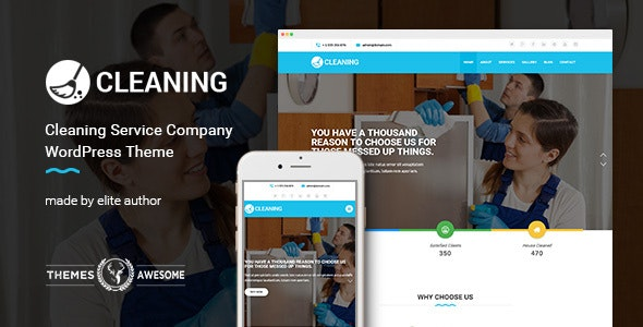 Cleaning Service Company v1.4 – WordPress Theme