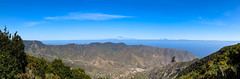 Panorama-Blick auf das Tal von Vallehermoso auf La Gomera, Spanien
