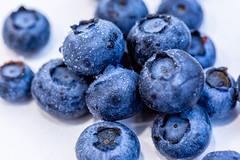 Fresh Blueberries on white background