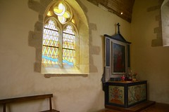 Stained Glass Window and Side Altar