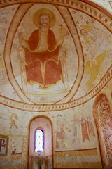 Medieval Wall Painting of Christ in Glory