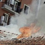 2015 Incendio al centro di accoglienza il Sorriso, in via Castrense 50,  Foto Flavia Scicchitano - https://www.flickr.com/people/35155107@N08/