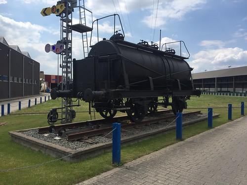 Infrabel - Old tank car on the site of the technical workshop of Infrabel (Schaarbeek).