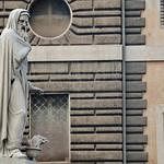 Piazza del Popolo:  Statue delle Quattro Stagioni ;L' Inverno di Felice Baini 1828 - https://www.flickr.com/people/82911286@N03/