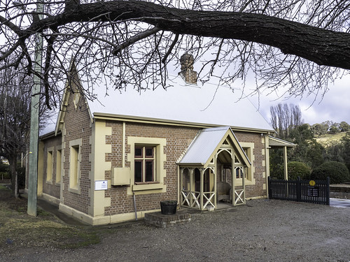 Heritage listed railway station at Rydal, built 1869.