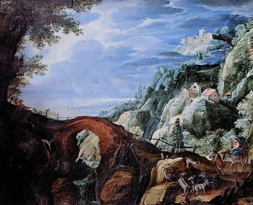 IMG_0052AC Paul Bril 1554-1626 Anvers Rome La Fuite en Egypte  The Flight into Egypt Besançon Musée des Beaux Arts