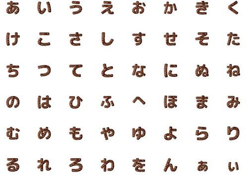 Chocolate alphabet Japanese English 1
