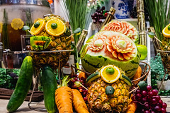 Creative carvings of different fruits