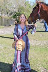Beautiful Model with Beautiful Horse