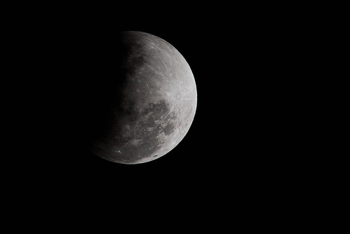 Eclipse parcial de luna   -   Partial lunar eclipse