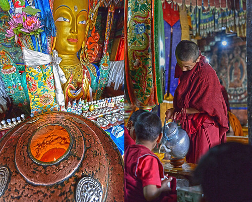 Scenes from Thiksey Monastery