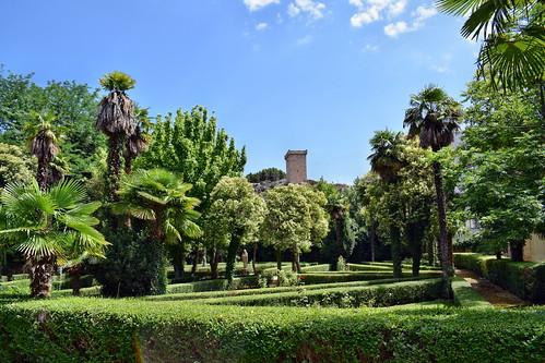 Jardines del balneario Termas Pallarés (Alhama de Aragón)