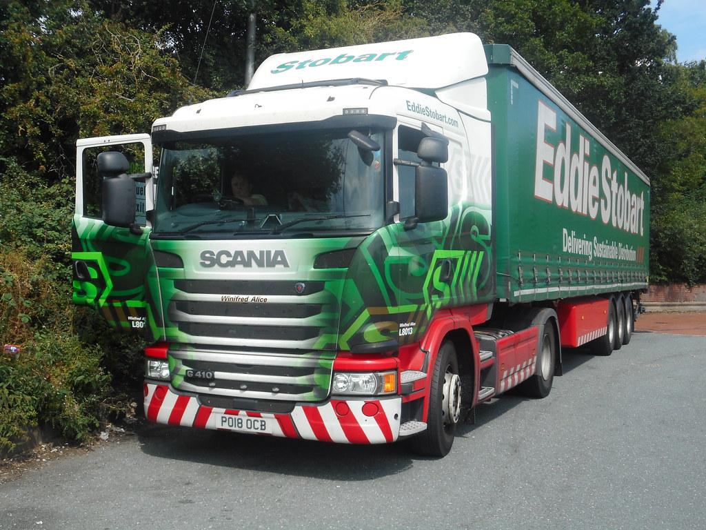 PO18 OCB Scania G410 Eddie Stobart L8013 Hartshead Moor