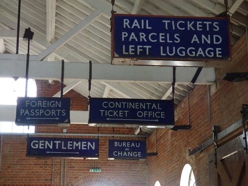 East Anglian Railway Museum - The Goods Shed - signs - Rail Tickets Parcels and Left Luggage