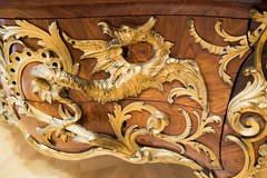Dragon on rococo commode