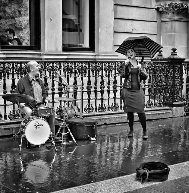 Singing in the rain...