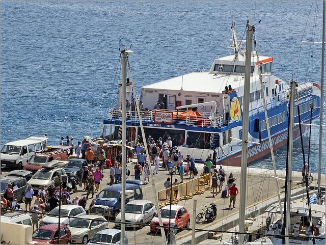 Ferry at Tilos Harbour