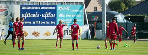 DEINZE, 16-07-2019, voetbalterrein KFC Sparta Petegem in Petegem-aan-de-Leie. 6de oefenwedstijd 2019-2020 SV Zulte Waregem. SV Zulte Waregem - KV Oostende. 1-1