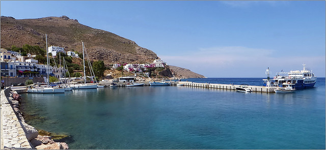 Livadia, the capitol of Tilos