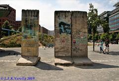 Berlim - fragmentos do muro no centro da cidade