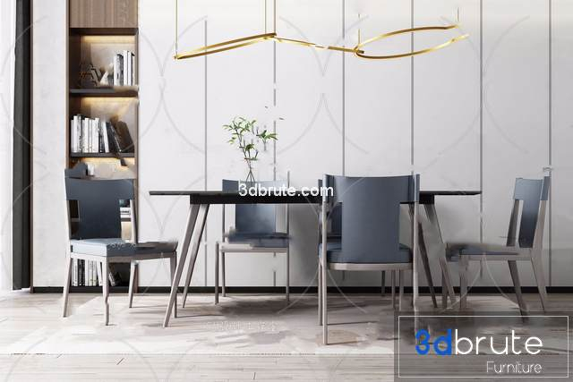 Sell Table and chair vol 2 set 2019 3d model
