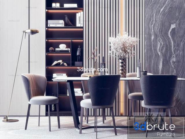 Sell Table and chair vol 2 set 2019 3d model - Download -3d Models Free  -3dbrute