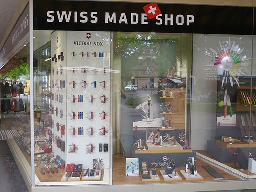 Swiss Army Knife shop in Switzerland