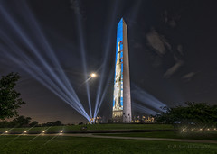 Apollo 11, 50th Anniversary, Washington Monument DC