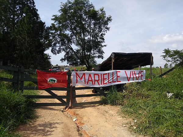 More than 1,000 families live in Marielle Vive Camp, in Valinhos, a one-hour drive out of São Paulo - Créditos: Esquerda Online