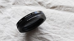CIRCULAR-PL filter with Compatible Canon FA-DC58C.