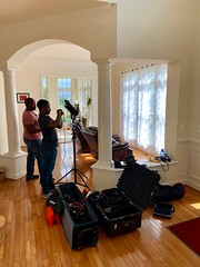 Film crew at the house in DC this morning for a Telefonica thought leadership contract.